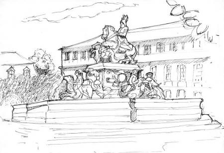 Bayreuth historique - La fontaine des Margraves