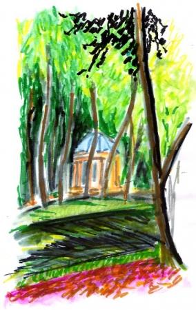 Bayreuth artistique - Le jardin de la cour (Hofgar